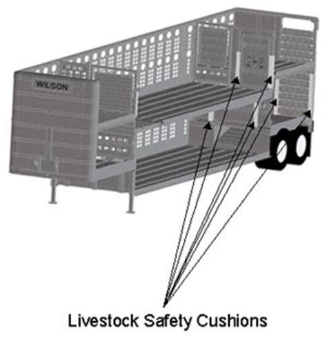 beef cattle transportation: livestock safety cushion