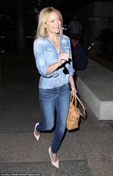 Style Kate Hudson by Kate Hudson In Denim As She Arrives At Lax Daily