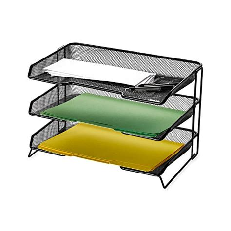 black mesh desk tray rolodex mesh collection 3 tiered desk tray black 1742325
