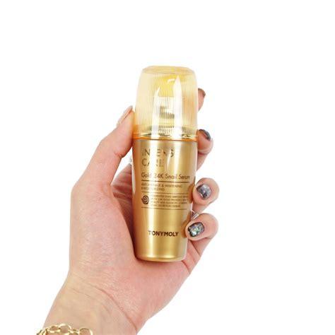 Shiny Gold Serum tonymoly care gold 24k snail serum review
