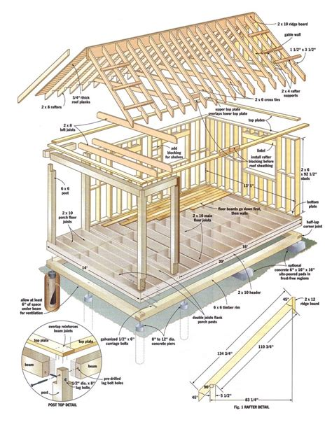 Shed Roof Cabin With Loft by Shed Roof Cabin With Loft 12x16 Cabin With Loft Plans
