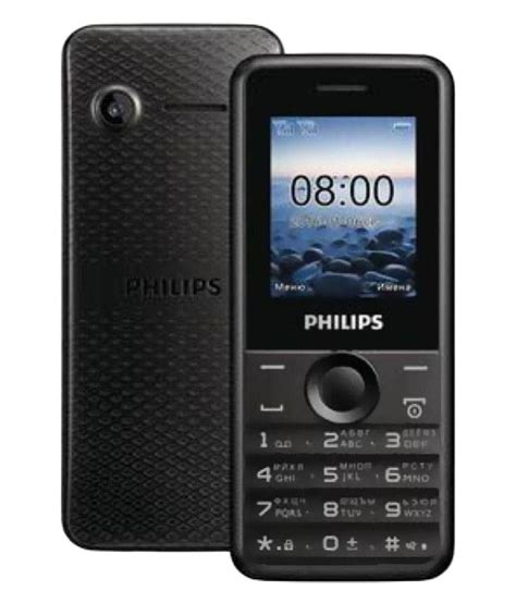 philips e105 4gb and below black feature phone at