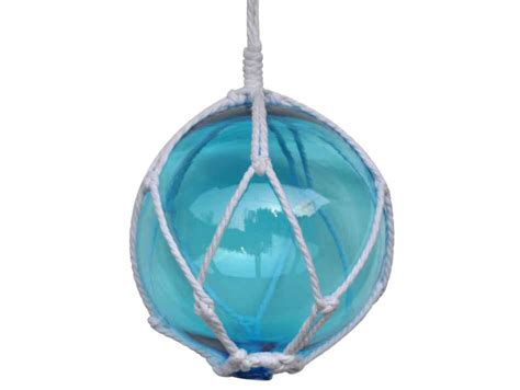 Japanese Glass | buy light blue japanese glass ball fishing float with