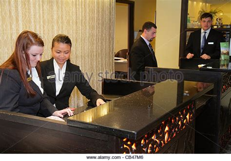 hilton employee help desk reservationist stock photos reservationist stock images
