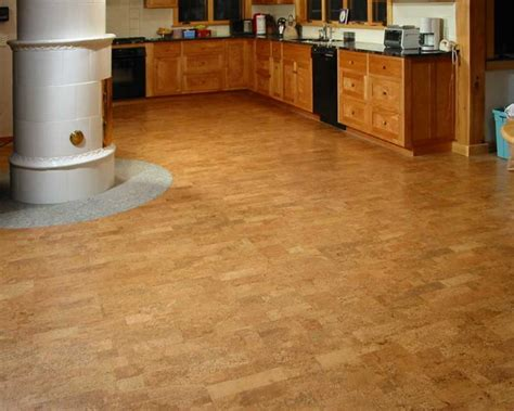 cork floor kitchen modern kitchen flooring ideas and trends furniture