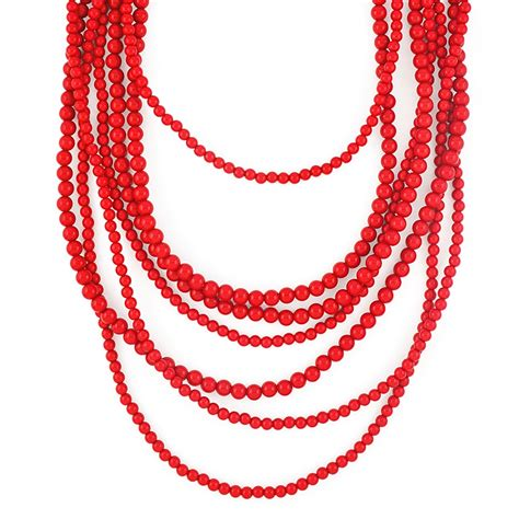 bold beaded strands multi layered necklace by
