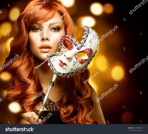 how to style carnival hair beautiful woman carnival mask holiday fashion stock photo