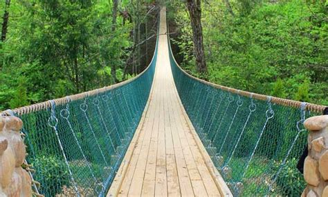 build swinging bridge 15 terrifying swinging bridges around the u s