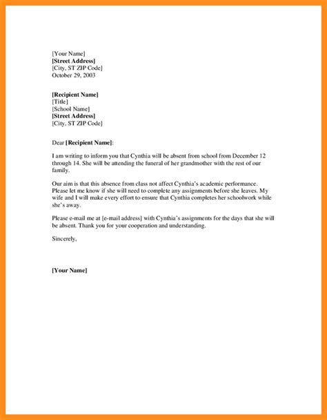 College Leave Letter To Principal gallery of 11 sick leave letter format hvac resumed
