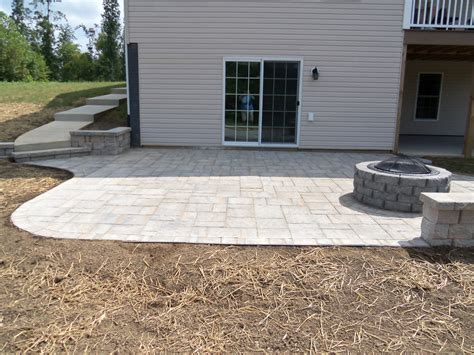 backyard with pavers landscaping virginia brick paver patio backyard