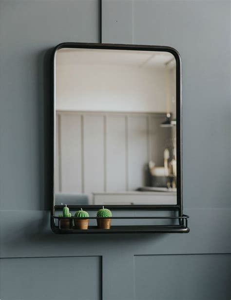 Mirror Shelves Bathroom Best 25 Mirror With Shelf Ideas On Pinterest Diy Furniture Board Mirror Decor Living Room
