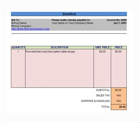 it consulting template word invoice template 14 free documents in pdf