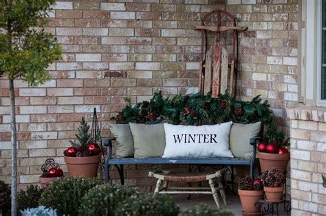 ideas  winter porch  pinterest winter