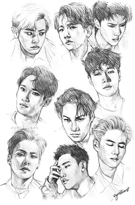 sketchbook exo cyrilliart