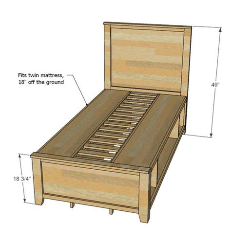 ana white bed plans ana white build a hailey storage bed twin free and