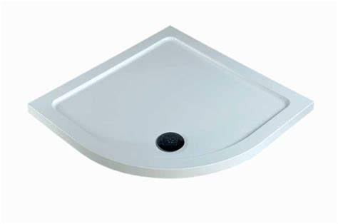 Shower Tray by Heated Towel Rad 800mm X 500mm