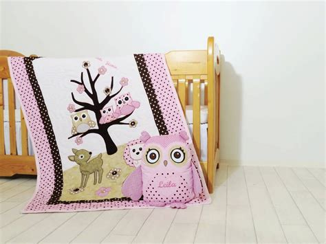 owl baby girl bedding organic owl quilt baby girl crib bedding owl pillow