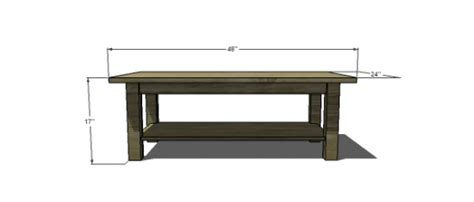 Free Woodworking Plans To Build A Potterybarn Inspired Coffee Table Free Plans