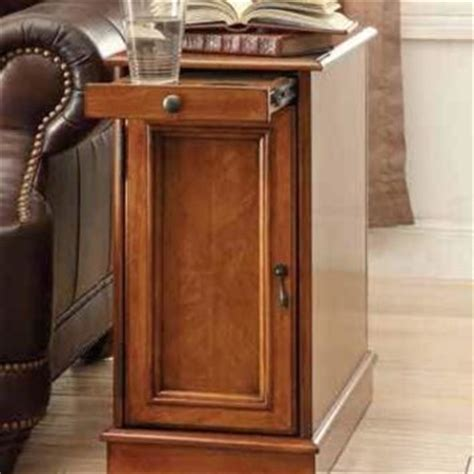 end table with pull out tray honey finish wood chair side end table from amb furniture and