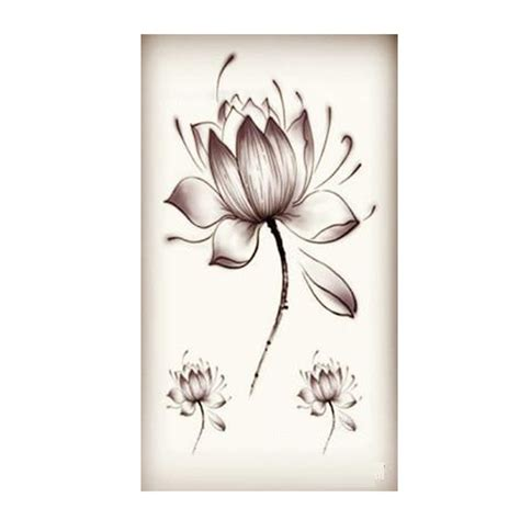black waterproof lotus flower stickers lotus flower