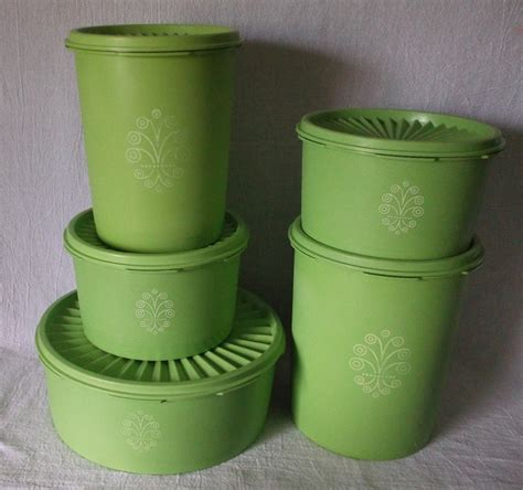 Tupperware Canister tupperware apple green canister set with servalier instant