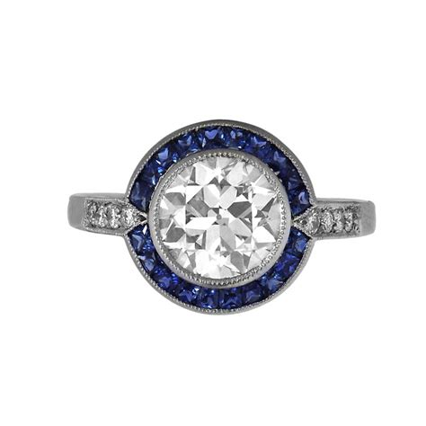 1 88ct and sapphire engagement ring estate
