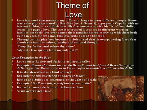 romeo and juliet theme park project romeo and juliet powerpoint