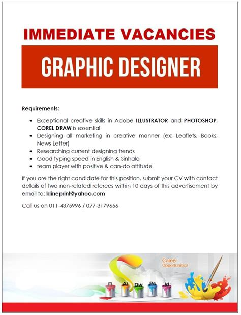 graphic design layout jobs graphic designer job vacancy in sri lanka