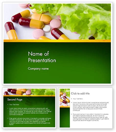 powerpoint themes vitamins food supplements powerpoint template backgrounds 13191
