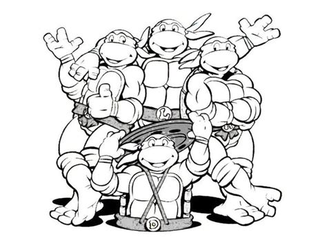 ninja turtle coloring pages birthday 1000 images about turtles birthday party on pinterest