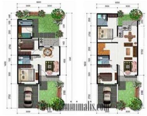 desain rumah minimalis  lantai type  tampak atas
