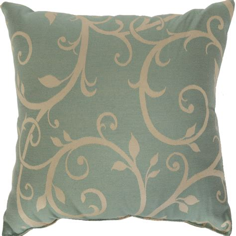 cabaret blue sunbrella outdoor throw pillows on sale