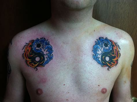 tattoo blue 51 wonderful yin yang shoulder tattoos
