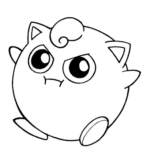 Jigglypuff Coloring Pages Jigglypuff Lineart By Flintofmother3 On Deviantart by Jigglypuff Coloring Pages