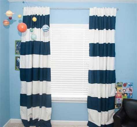 blue and white stripe curtains blue and white striped curtains furniture ideas