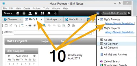 lotus notes search getting started with ibm notes 9 part 3 the search box