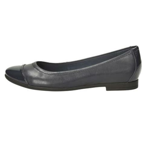 navy patent flat shoes clarks leather ballet style flat shoes atomic