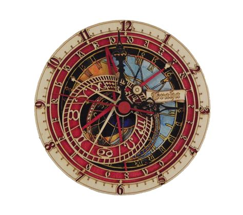 astronomical wall clock prague astronomical wooden wall clock