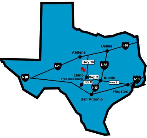 llano texas map texas map llano