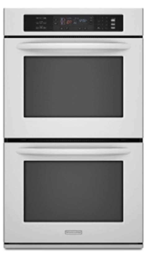 Kitchenaid Appliances Houston Tx Kitchenaid Superba White Wall Built In Dbl Oven For