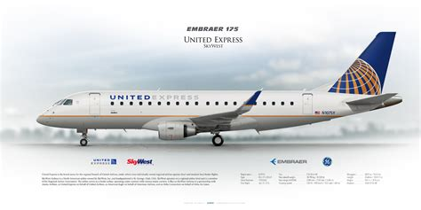 theme music united airlines embraer 175lr united express skywest n107sy united