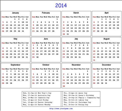 2014 Calendar Australia Template 2014 calendar printable calendar 2014 calendar in