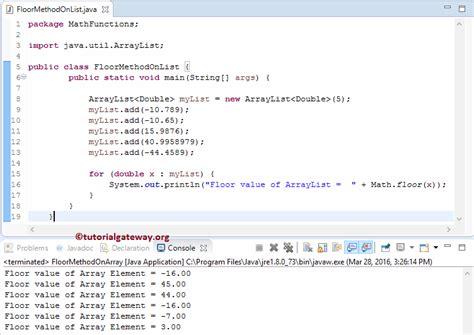 Math Floor Java by Java Floor Function