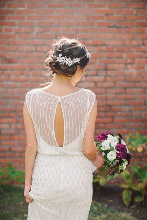 Wedding Hair For Keyhole Back Dress by 25 Keyhole Wedding Dress Ideas For A Subtle Bridal