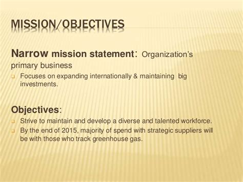 mission statement vs objectives mission statement verizon vs at t
