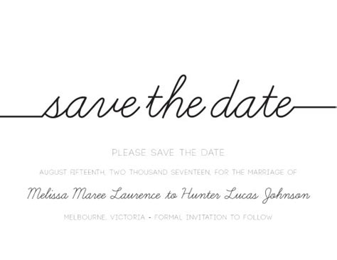 Cursive Letterpress Save The Date Save The Date Text Template