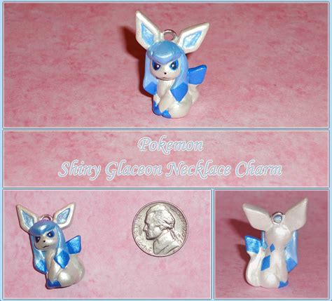 how to make clay shiny shiny glaceon charm eeveelution by