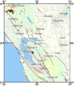 northern california fault lines map earthquake fault zone map of northern ca
