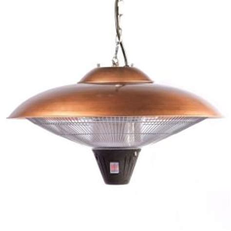 Fire Sense 1 500 Watt Copper Hanging Halogen Electric Patio Heaters At Home Depot