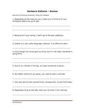 sentence patterns quiz for grade 5 sentence patterns 7th grade 7th grade outline syllabus